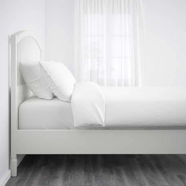 TYSSEDAL ティッセダール ベッドフレーム, ホワイト/ルーローイ, 90x200 cm