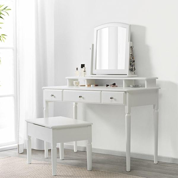 TYSSEDAL ティッセダール テーブルミラー, ホワイト, 63x58 cm