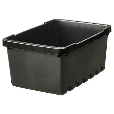 UPPSNOFSAD ウップスノフサド 収納ボックス, ブラック, 25x17x12 cm/4 l