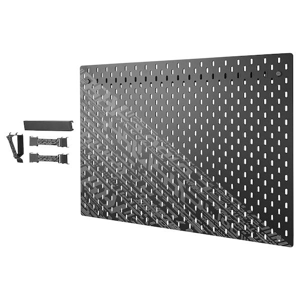 UPPSPEL ウップスペル 有孔ボードコンビネーション, ブラック, 76x56 cm