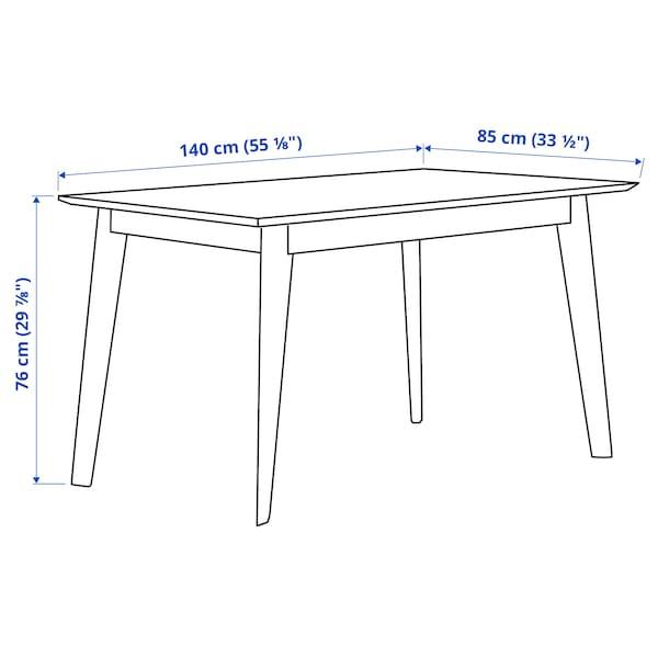 VÄBY ヴェビ テーブル, ウォールナット材突き板, 140x85 cm