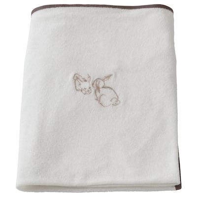 VÄDRA ヴェードラ カバー ベビーケアマット用, ウサギ/ホワイト, 74x80 cm