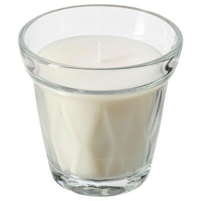 VÄLDOFT ヴェルドフト 香り付きキャンドル グラス入り, クリアガラス/コーヒーブレーク, 8 cm