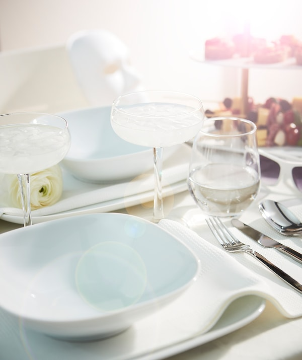 VÄRDERA ヴェデーラ 深皿, ホワイト, 20x20 cm