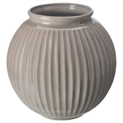 VANLIGEN ヴァンリゲン 花瓶, グレー, 18 cm