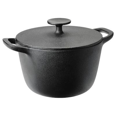 VARDAGEN ヴァルダーゲン 鍋 ふた付き, 鋳鉄, 3 l