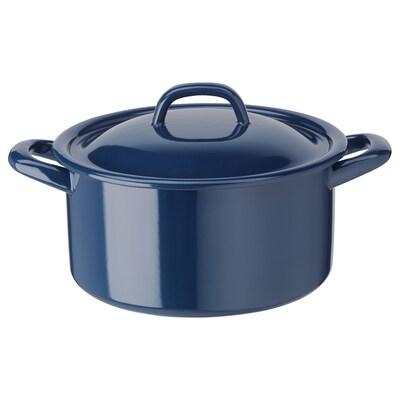 VARDAGEN ヴァルダーゲン 鍋 ふた付き, スチール、ホーロー加工, 3 l