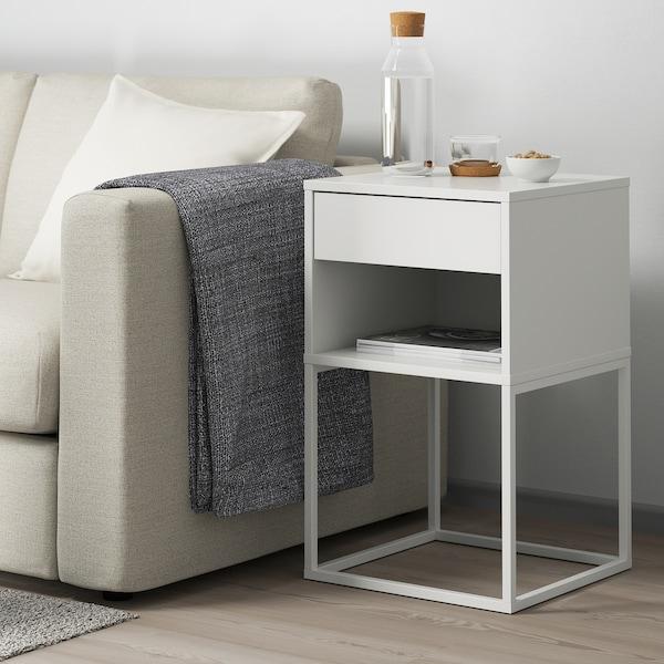 VIKHAMMER ヴィークハムメル ベッドサイドテーブル, ホワイト, 40x39 cm