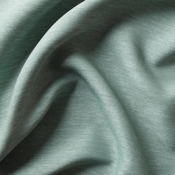 VILBORG ヴィルボリ 遮光カーテン(わずかに透光) 1組, グリーン, 145x135 cm