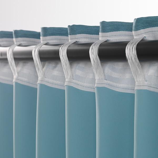VILBORG ヴィルボリ 遮光カーテン(わずかに透光) 1組, ターコイズ, 145x135 cm