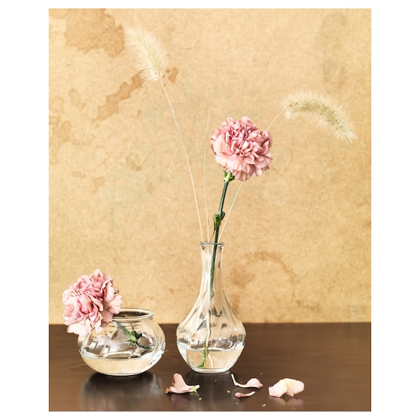 VILJESTARK ヴィリエスタルク 花瓶, クリアガラス, 8 cm