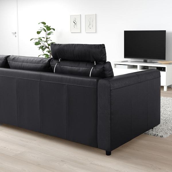 VIMLE ヴィムレ 3人掛けソファ, ヘッドレスト付き/グラン/ボームスタード ブラック