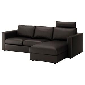 カバー: 寝椅子付き ヘッドレスト付き/ファールスタ ブラック.