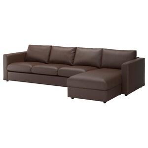 カバー: 寝椅子付き/ファールスタ ダークブラウン.