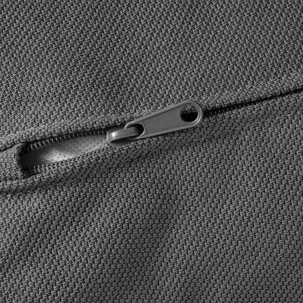VIMLE ヴィムレ カバー 5人掛けコーナーソファベッド用, 寝椅子付き ワイドアームレスト付き/ハーラルプ グレー