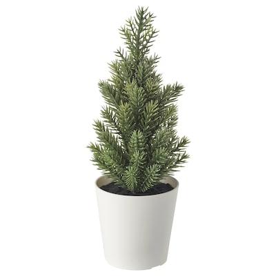 VINTER 2020 ヴィンテル 2020 人工観葉植物 鉢カバー付き, 室内/屋外用/クリスマスツリー グリーン, 6 cm