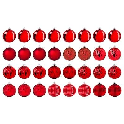 VINTER 2020 ヴィンテル 2020 デコレーション ボールオーナメント, レッド, 8 cm