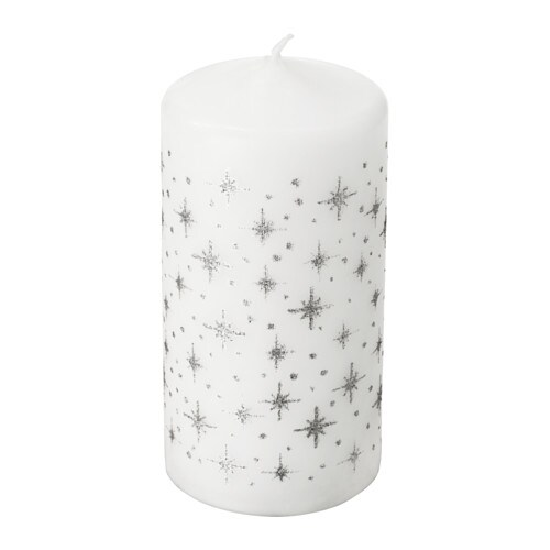 VINTER 2017 香りなしブロックキャンドル IKEA