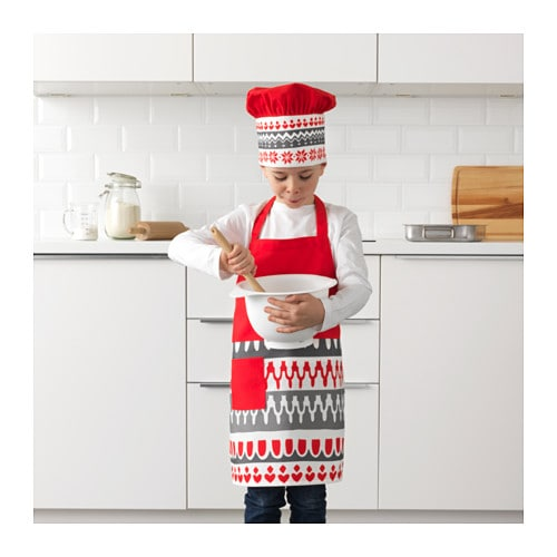 VINTER 2017 子供用エプロン コック帽付き IKEA