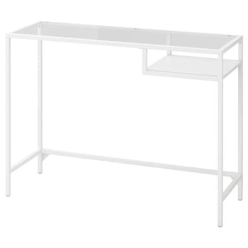 ヴィットショー ラップトップテーブル ホワイト/ガラス 100 cm 36 cm 74 cm 25 kg