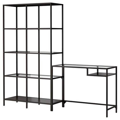IKEA ヴィットショー シェルフユニット ラップトップテーブル付き