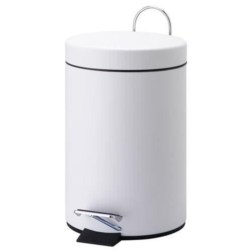 ヴォルゴド ペダル式ゴミ箱 ホワイト 25 cm 17 cm 3 l