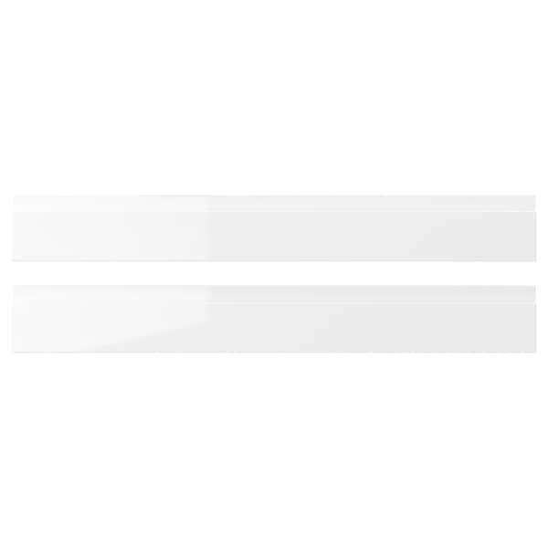 VOXTORP ヴォックストルプ 引き出し前部, ハイグロス ホワイト, 75x10 cm
