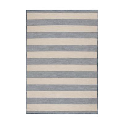 VRENSTED ヴレンステード ラグ 平織り、室内/屋外用, ベージュ/ライトブルー, 133x195 cm