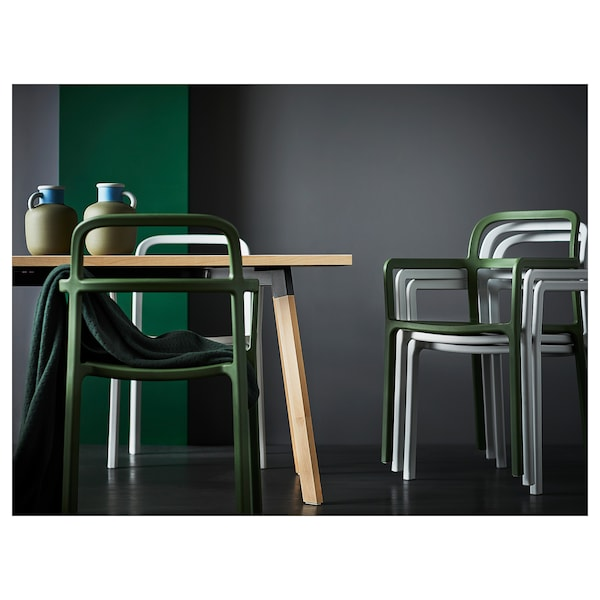 YPPERLIG イッペルリグ テーブル, アッシュ, 200x90 cm