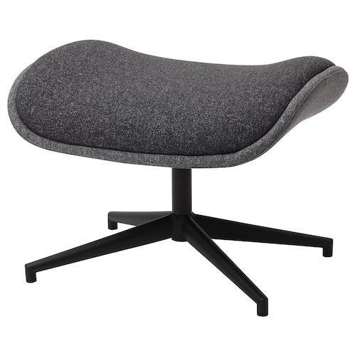 ÄLEBY footstool for swivel armchair Gunnared medium grey/dark grey 59 cm 52 cm 43 cm