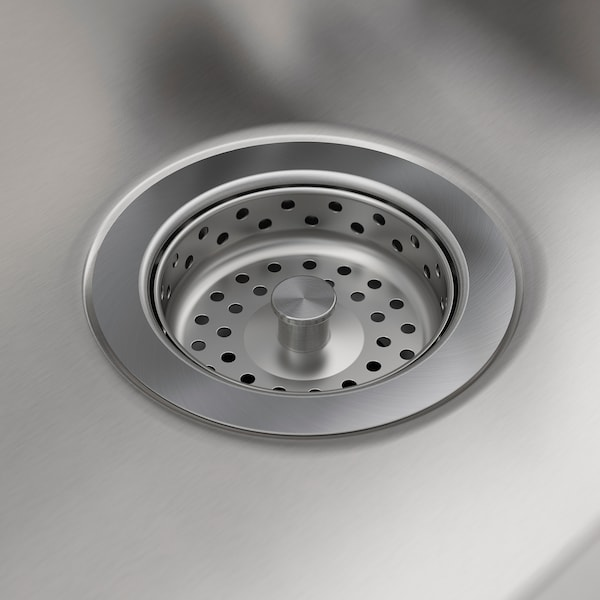 AMMERÅN Onset sink, 1 bowl, stainless steel, 60x63.5 cm