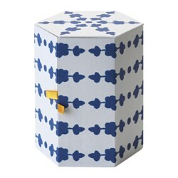 ANILINARE decoration box, white, blue