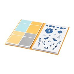 ANILINARE folder with stickers, white, blue