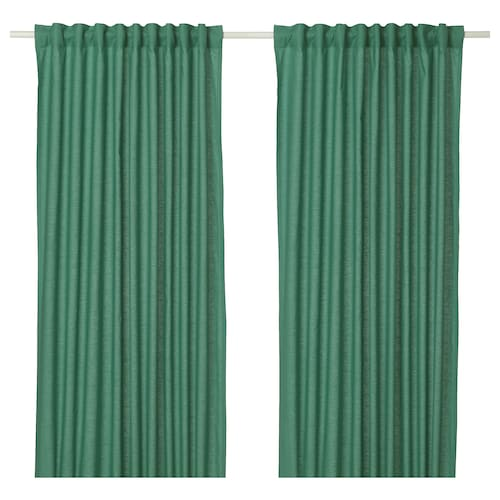 ANNALOUISA curtains, 1 pair green 250 cm 145 cm 1.60 kg 3.63 m² 2 pieces
