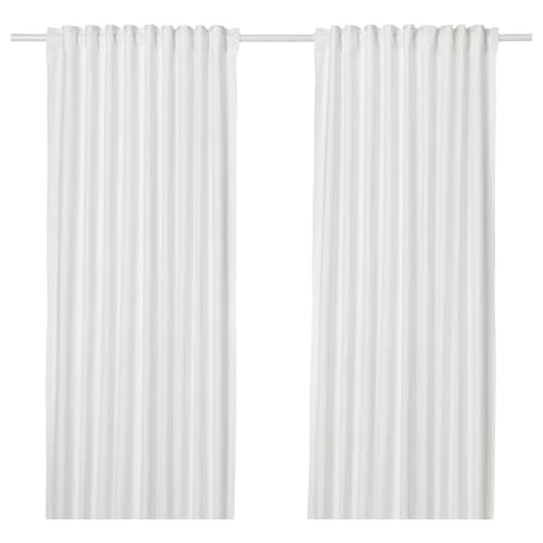 ANNALOUISA curtains, 1 pair white 250 cm 145 cm 1.60 kg 3.63 m² 2 pieces