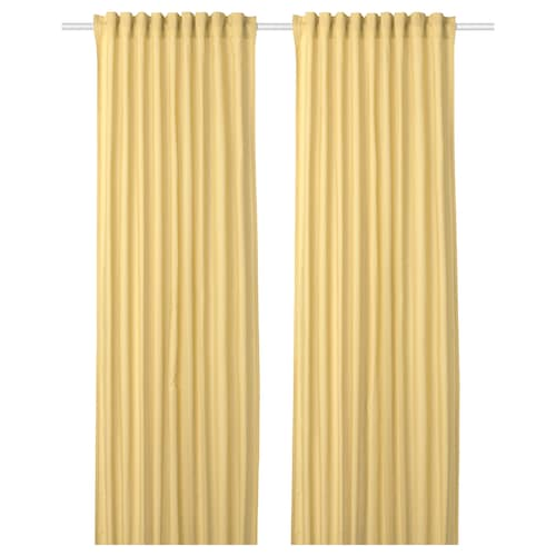 ANNALOUISA curtains, 1 pair light yellow 250 cm 145 cm 1.60 kg 3.63 m² 2 pieces