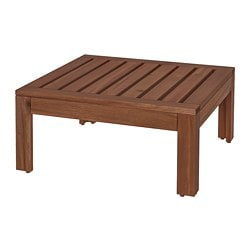 ÄPPLARÖ table/stool section, outdoor, brown brown stained