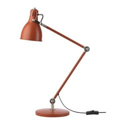 ARÖD work lamp, red-brown