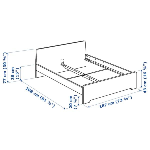 ASKVOLL Bed frame, white/Luröy, 180x200 cm