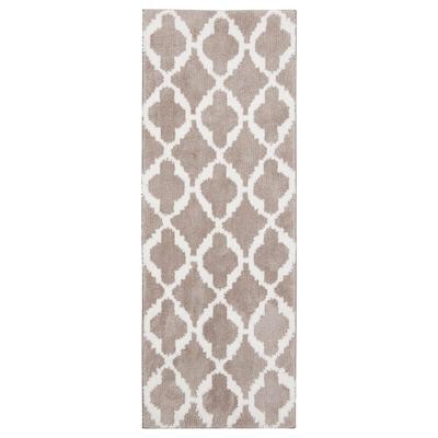 AUNING Kitchen mat, beige, 45x120 cm
