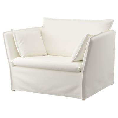 BACKSÄLEN 1,5-seat armchair, Blekinge white