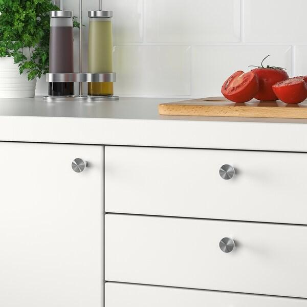 BAGGANÄS Knob, stainless steel, 21 mm