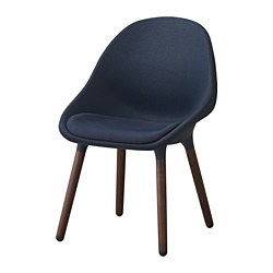 BALTSAR chair, black-blue, brown