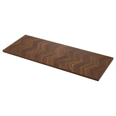 BARKABODA worktop walnut/veneer 3 mm 186 cm 63.5 cm 3.8 cm