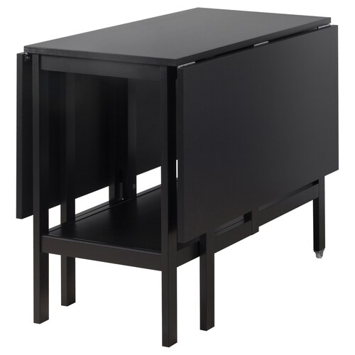 BARSVIKEN drop-leaf table black 90 cm 45 cm 135 cm 93 cm 74 cm