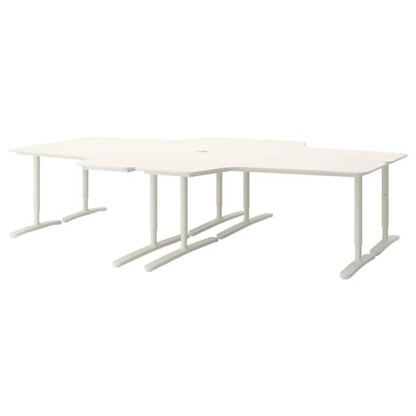 BEKANT Desk combination, white, 320x220 cm