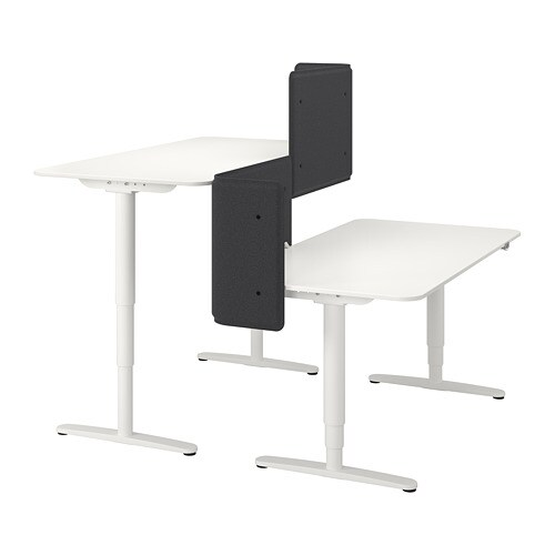 white office desk benching system includes screen  ped cable tray unit 4 or 2
