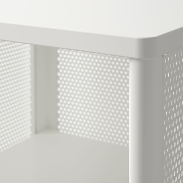 BEKANT Storage unit on legs, mesh white, 41x101 cm