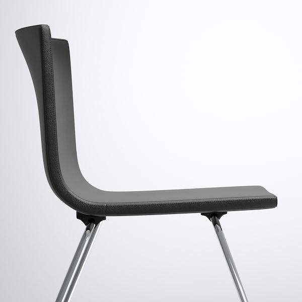 BERNHARD Chair, chrome-plated/Mjuk dark brown