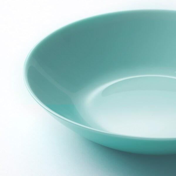 BESEGRA Deep plate, light turquoise, 20 cm